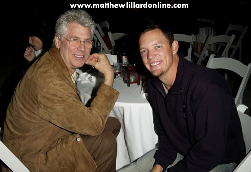 Matthew and Barry in 2002 at a charity dinner