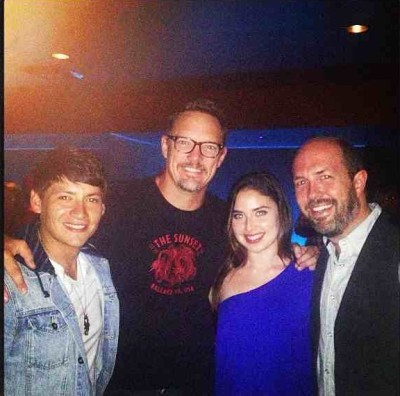 Carlos with Matthew, Christina and Eric Lange